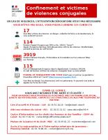 Confinement et victimes de violences (Loiret)