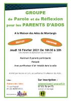 2021 Montargis Affiche groupe soutien parents Montargis A4
