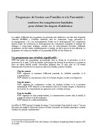 Présentation programme PSFP 2020 et 2021